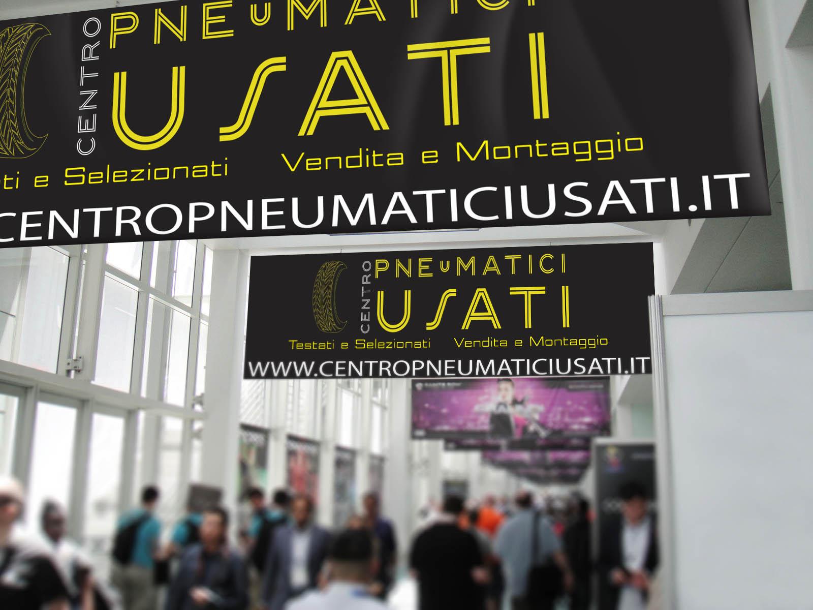 Realizzazione Grafica e Stampa Striscione PVC 200x80 Centro Pneumatici Usati