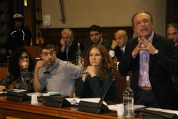 I banchi dell'opposizione in consiglio comunale
