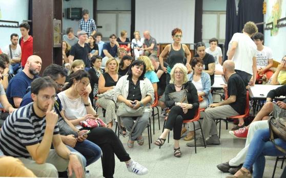 L'assemblea al circolo Garibaldi