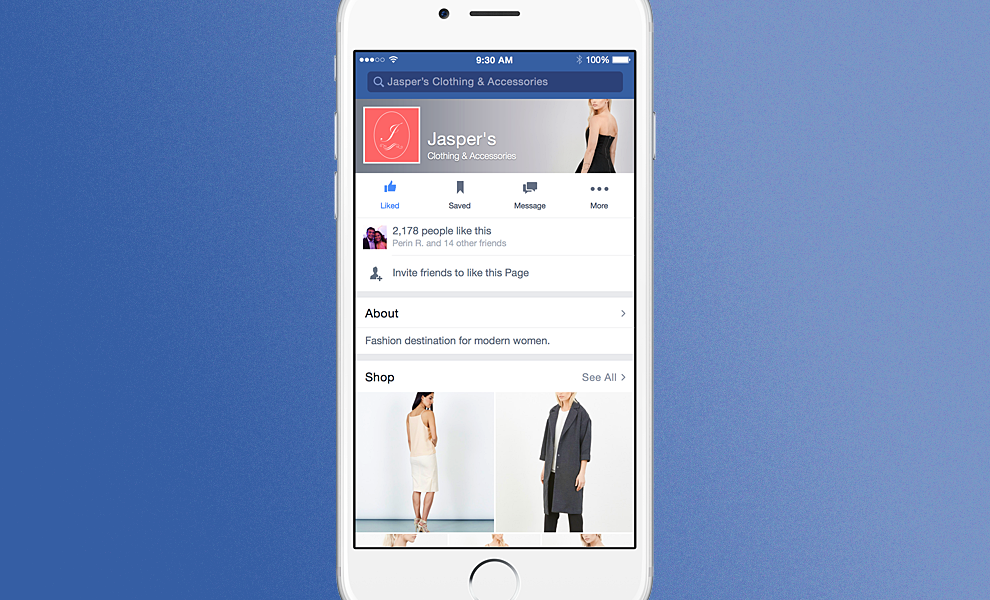 Facebook Testa L'e-commerce All'interno Del Social – TStyle