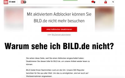 """La Bild Contro """"adblock"""""""