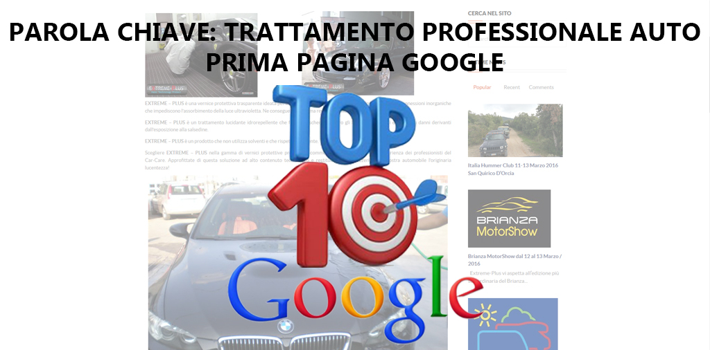 TOP 10 GOOGLE – EXTREME PLUS