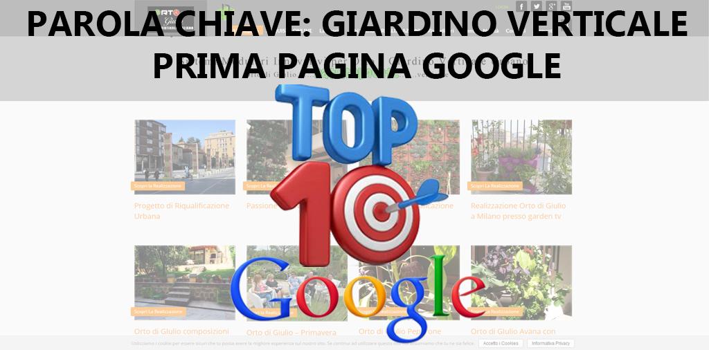 TOP 10 GOOGLE – GIARDINO IN VERTICALE